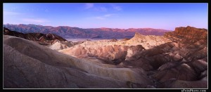 Twilight from Zabriske Point, Death Valley