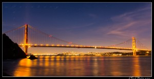 Twilight over San Francisco and the Golden Gate Bridge