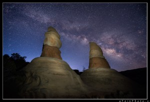 Milky Way above hoodoo's in Escalante Wilderness