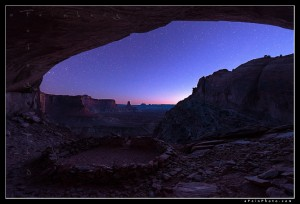 Stars over the southern Utah desert from False Kiva.