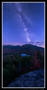 Milky Way over Algonquin Mt as seen from Mt. Jo in the Adirondacks