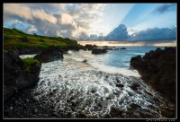 Dramatic sunrise along the Hana coast, Maui.