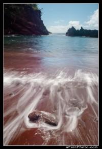 Red Sand beach during day near Hana, Maui