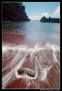 Red Sand beach during day near Hana, Maui