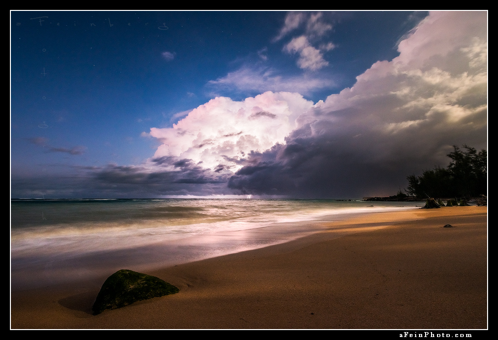 Lightning off the coast of Paia, Maui