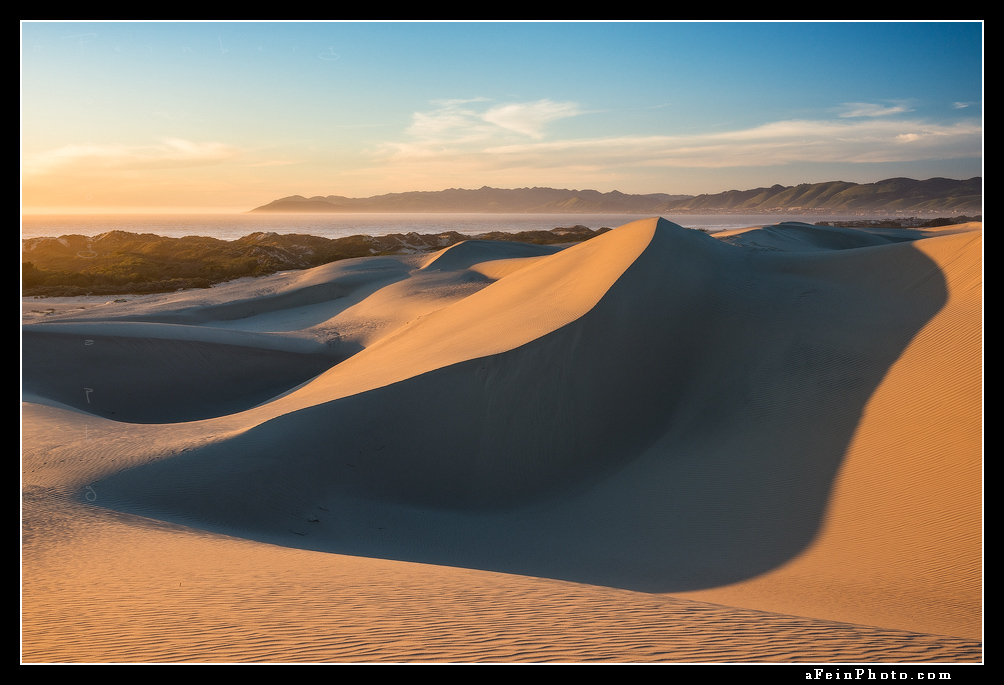 Sunset along Oceano Dunes in Central California