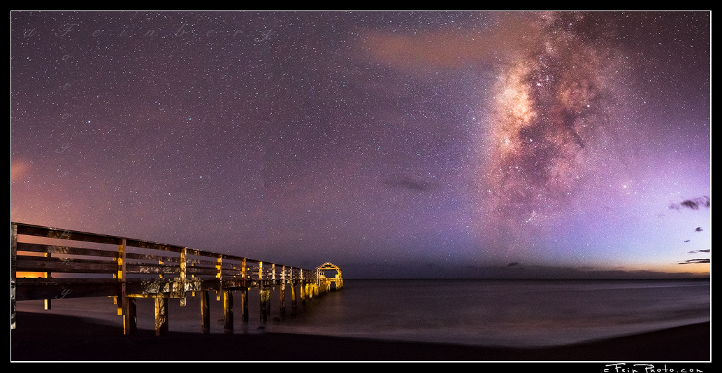Waimea Pier under the Milky Way on Kaua'i