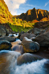 feinberg,hawaii,kalalau,kauai,remote,river,stream,vertical,