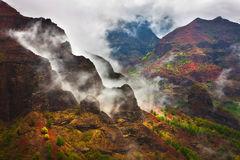 dramatic,feinberg,horizontal,kauai,rain,storm,waimea canyon