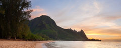 bali hai,panorama,seascape,sunset,tunnels, haena,