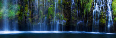 california,feinberg,mossbrae,panorama,waterfall, serene, quiet, green, lush, moss