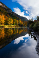 ausable,autumn,fall,feinberg,lake placid,new york,reflection,river,vertical