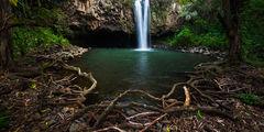 feinberg,green,horizontal,maui,panorama,secluded,trees,waterfall