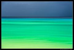 Aaron Feinberg, abstract, feinberg, green, horizontal, polihale, turquoise