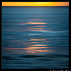 feinberg, oahu, abstract, square, horizontal, vertical, sunset, orange, blue