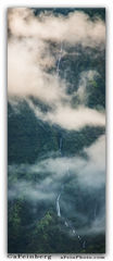 Aaron Feinberg, vertical, panorama, waterfall, hanalei, kauai, clouds,