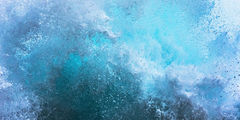 feinberg, horizontal, panorama, abstract, splash, wave, blue, teal, surreal