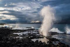 Aaron Feinberg, kauai, horizontal, dramatic, spouting horn, poipu