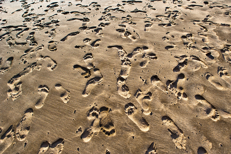 beach,feinberg,footprints,hanakapi'ai,hawaii,horizontal,kauai,landscape,sand, photo