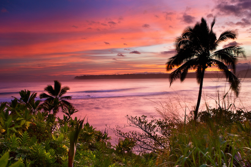 feinberg,hanalei,horizontal,kauai,purple,red,sunrise, photo