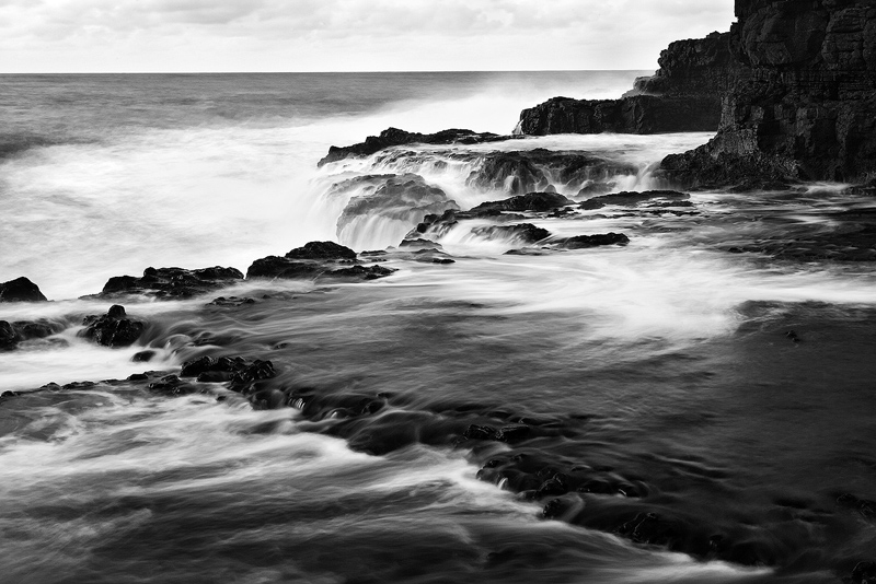 b/w,black and white,coast,feinberg,horizontal,kauai,seascape, photo