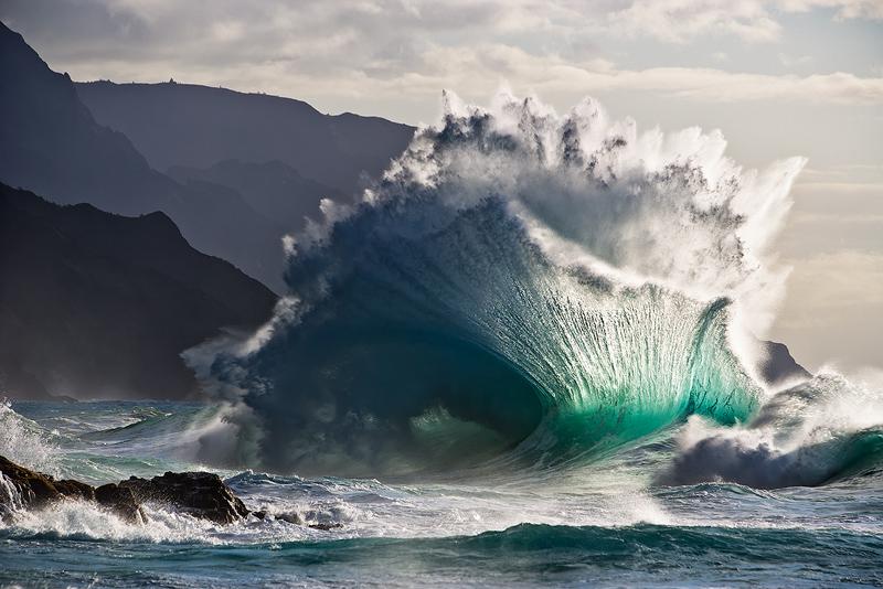explosion,feinberg,horizontal,kaboom,kauai,ke'e,wave, photo
