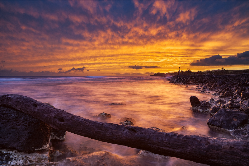 feinberg,horizontal,kukuiula,orange,poipu,seascape,sunset, photo