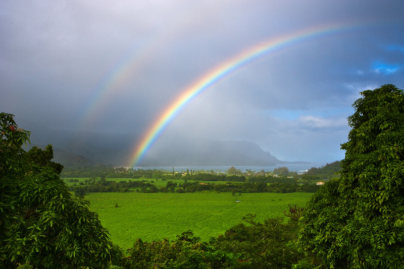 feinberg,hanalei,horizontal,kauai,princeville,rainbow, hanalei, hanalei bay, photo