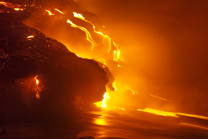 Needless to say photographing lava is a dangerous proposition, with the proper precautions and right partner it can be done....