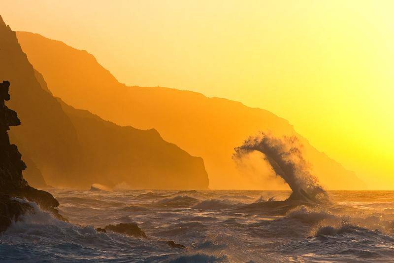 award,feinberg,horizontal,kauai,ke'e,na pali,wave, photo