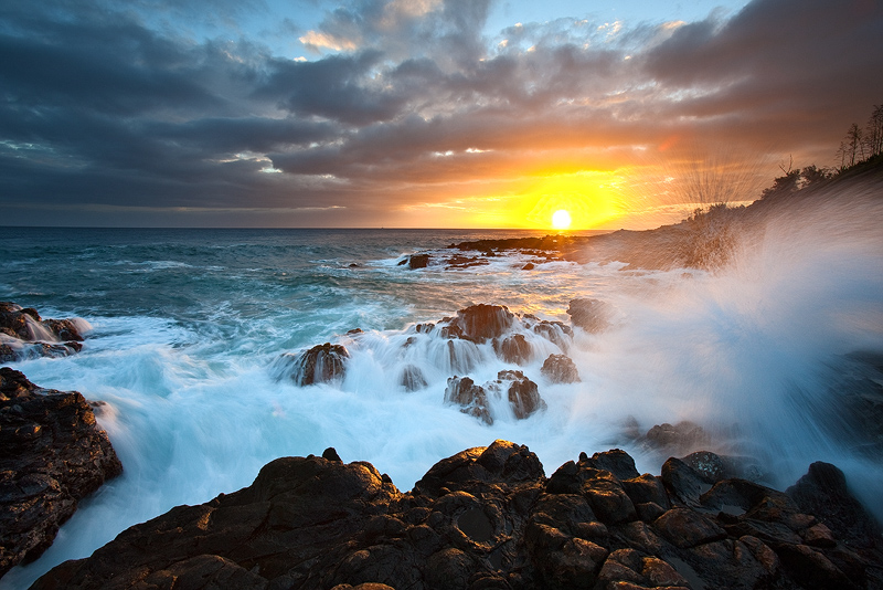 feinberg,horizontal,kauai,poipu,seascape,sunset, photo
