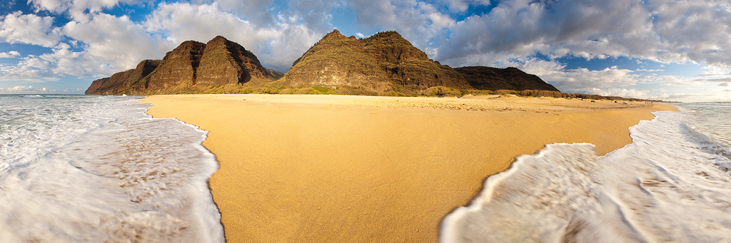 beach,feinberg,kauai,panorama,polihale,sand, photo