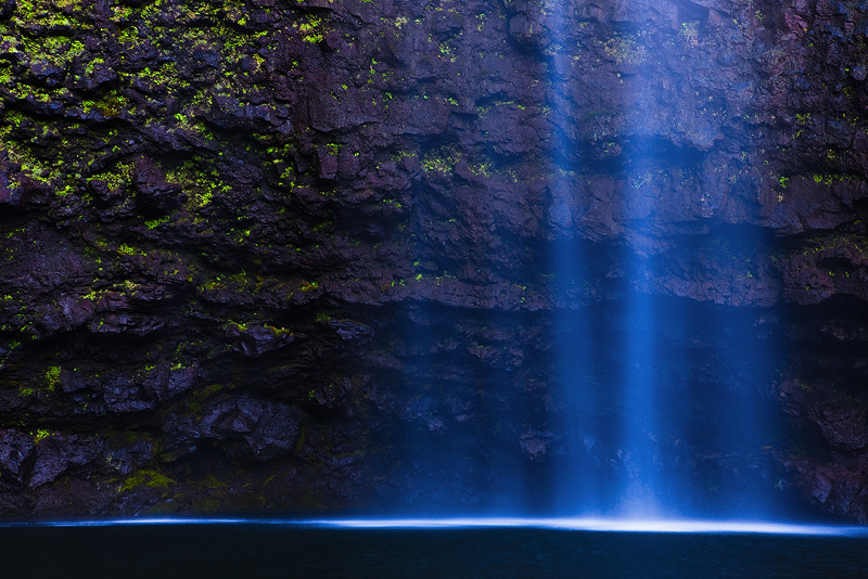 abstract,blue,feinberg,hanakapi'ai,horizontal,waterfall, photo
