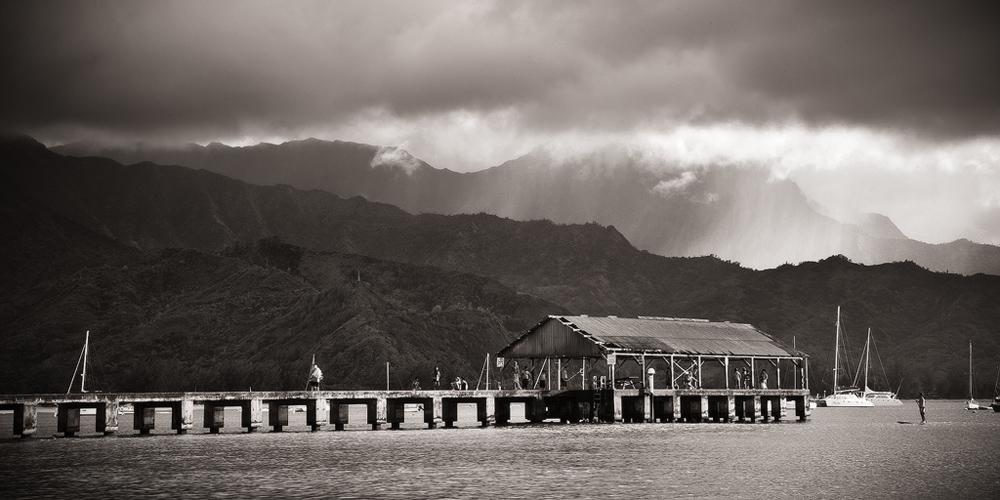 feinberg,hanalei,hawaii,kauai,panorama,pier, photo