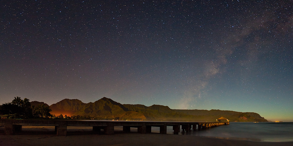 feinberg,hanalei bay,kauai,milky way,night,stars, photo
