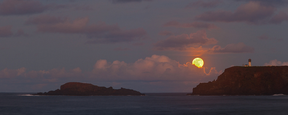 feinberg,kilauea,lighthouse,moon,panorama,secrets,secrets beach, photo