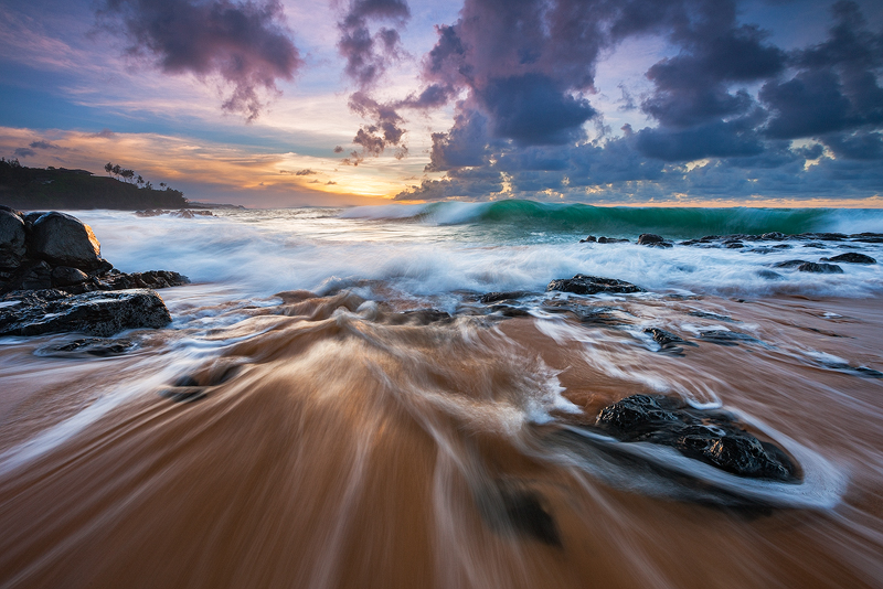 beach,feinberg,horizontal,kauai,motion,seascape,secrets, secrets beach