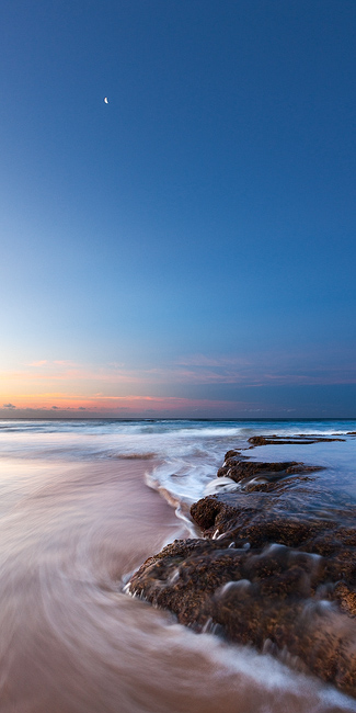 blue,feinberg,kauai,moon,panorama,seascape,vertical, photo