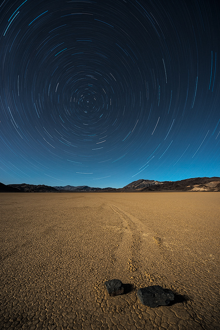 california,death valley,feinberg,nightscape,racetrack,star trails, photo