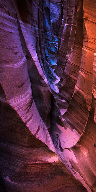 colorful,escalante,feinberg,panorama,remote,slot canyon,utah,vertical, photo