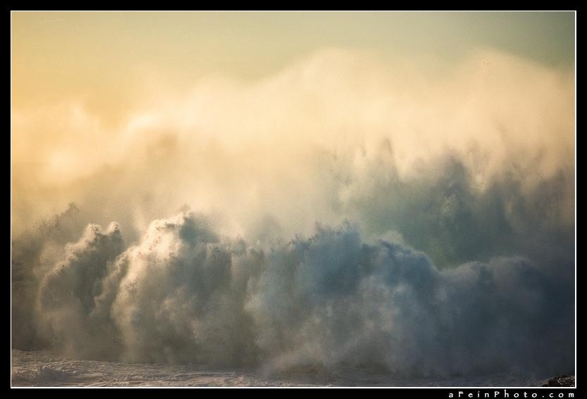 Aaron Feinberg, wave, horizontal, orange, abstract, surreal, painting, kauai, hawaii, photo
