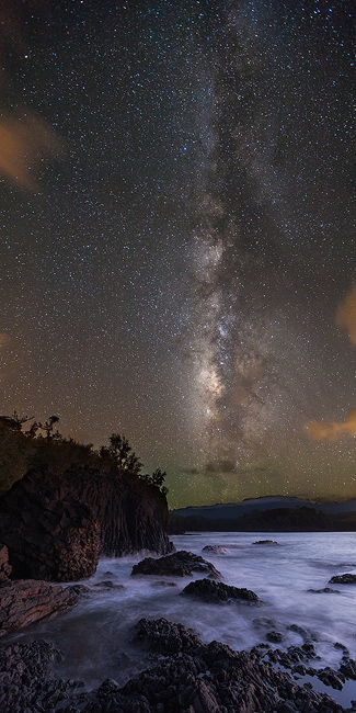 award,feinberg,kalihiwai,kauai,kilauea,milky way,panorama,stars,vertical, photo
