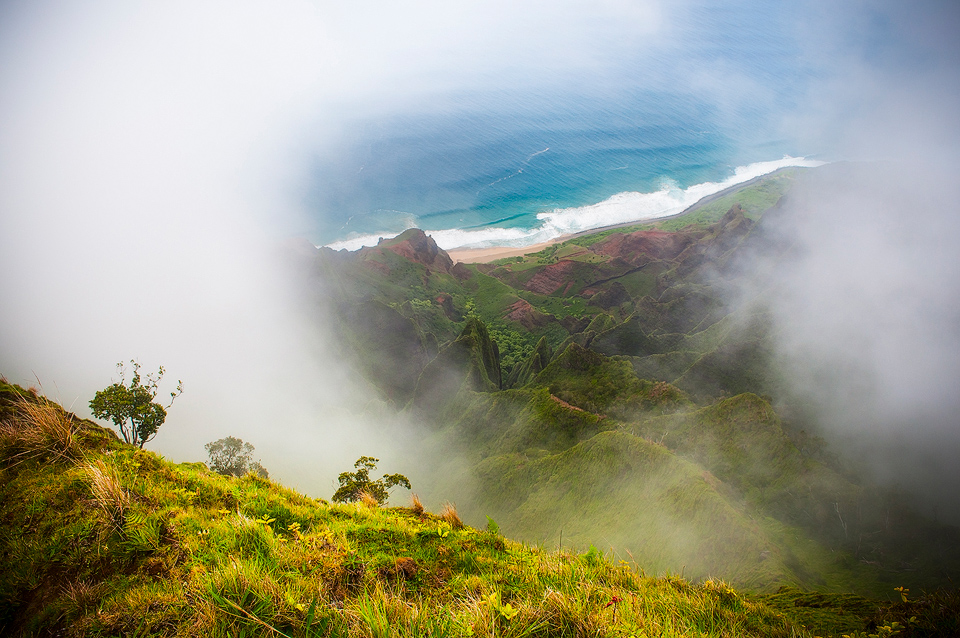 kauai, kalalau, horizontal, love, heart, remote, green, clouds, , photo