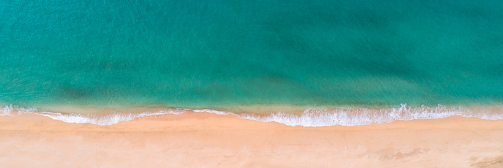 Aaron Feinberg, aerial, drone, secrets, panorama, panoramic, absract, blue, turquoise, simple, fine art, secrets beach, photo