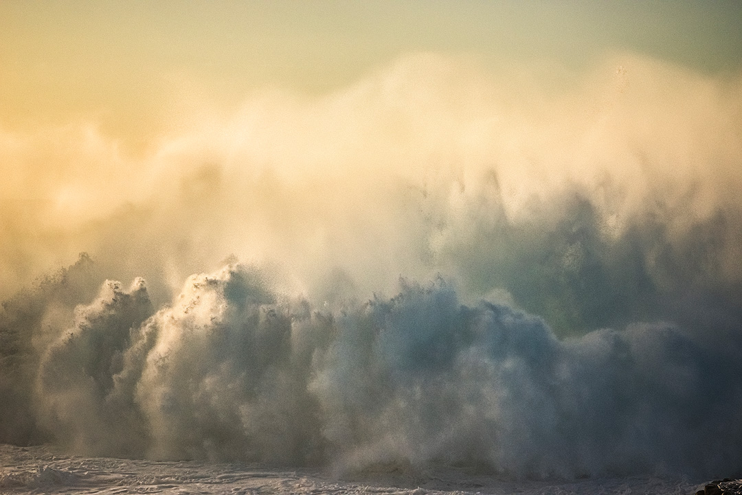 Taken the same day as The Kraken, this late season swell created some dramatic wave watching.  The late afternoon light casting...