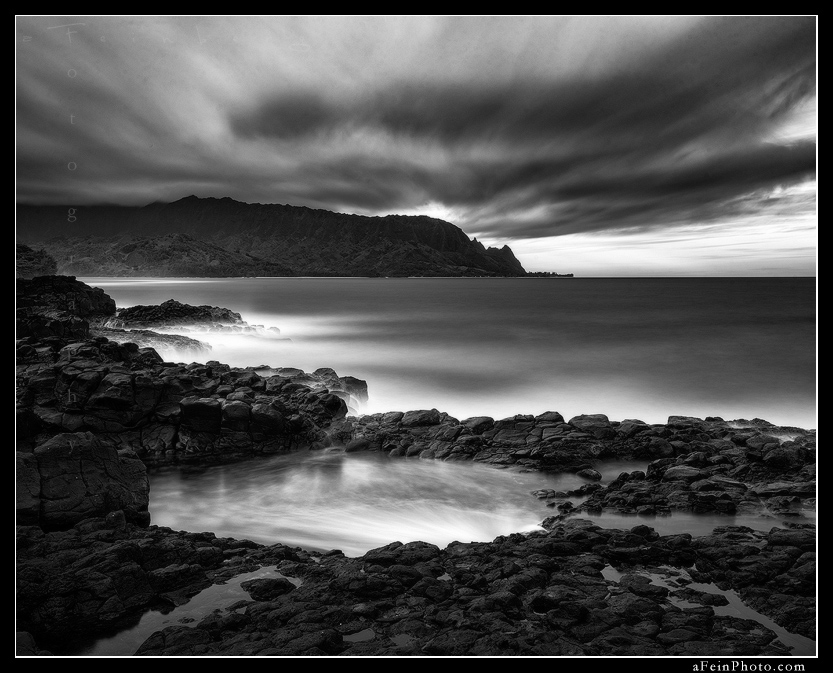 feinberg, queens bath, princeville, kauai, bnw, black and white, hawaii, horizontal, photo