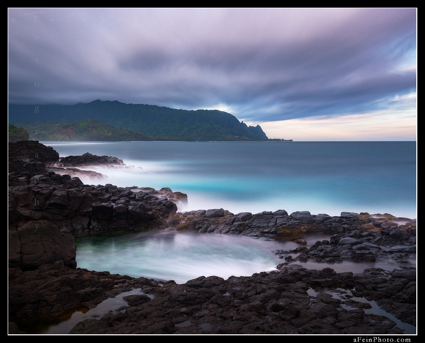 feinberg, horizontal, queens bath, kauai, princeville, , photo
