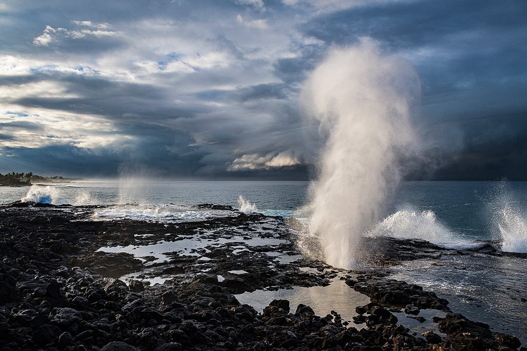 Aaron Feinberg, kauai, horizontal, dramatic, spouting horn, poipu, photo