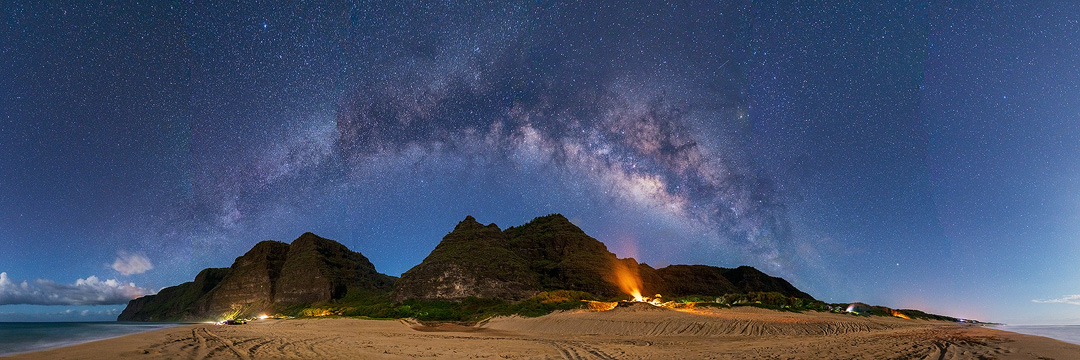 Many years ago while camping with friends out at Polihale State Park I had the chance to photograph the Milky Way arching over...