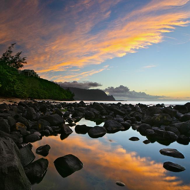 bali hai,feinberg,hideaways,kauai,princeville,reflection,square, photo